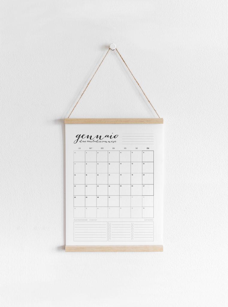 Calendario Gennaio.Freeprint Calendario Gennaio 2019 Valentina Verdini