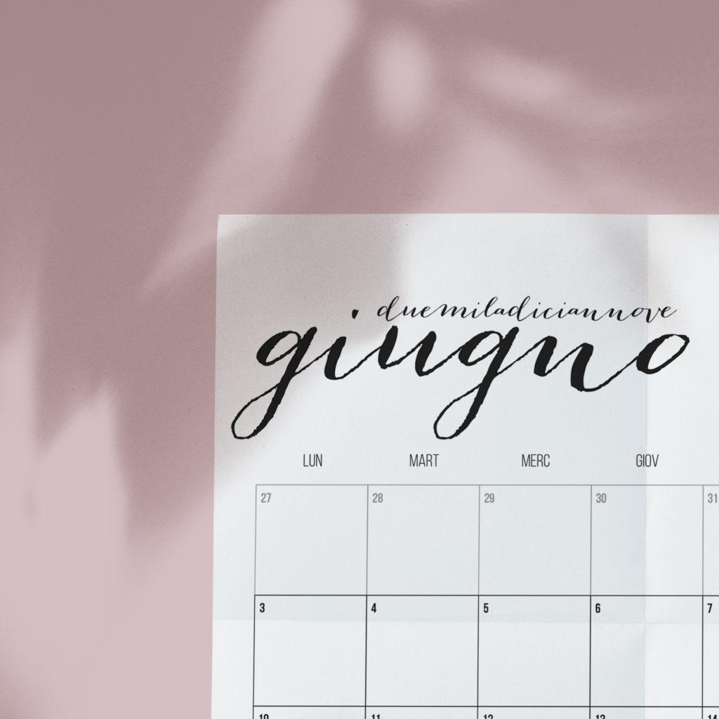 Calendario Di Giugno.Freeprint Calendario Giugno 2019 Valentina Verdini
